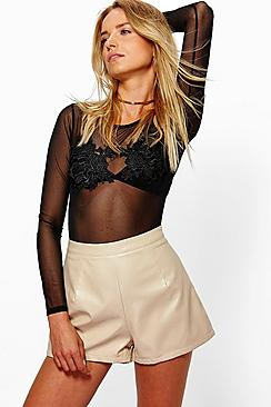 Emma High Waisted PU Shorts