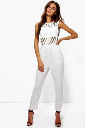 Boutique Bryony Crochet Jumpsuit