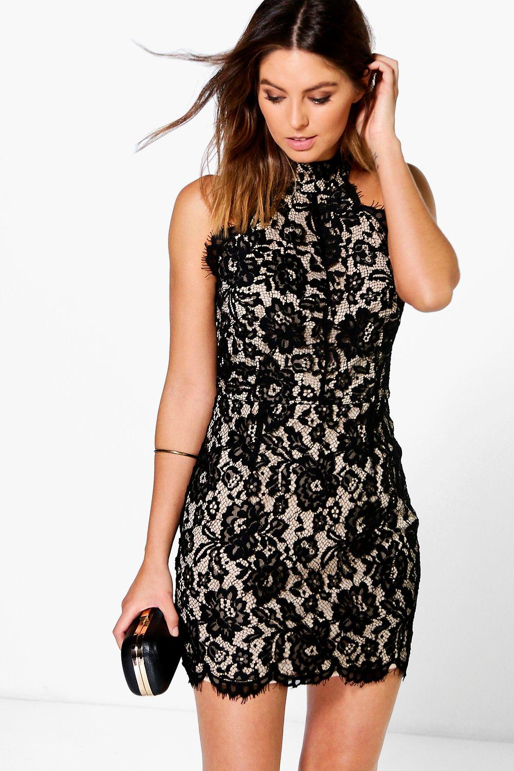 Kenny All Over Corded Lace Bodycon Dress