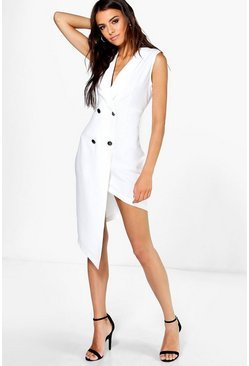 Boutique Toni Asymmetric Tuxedo Dress