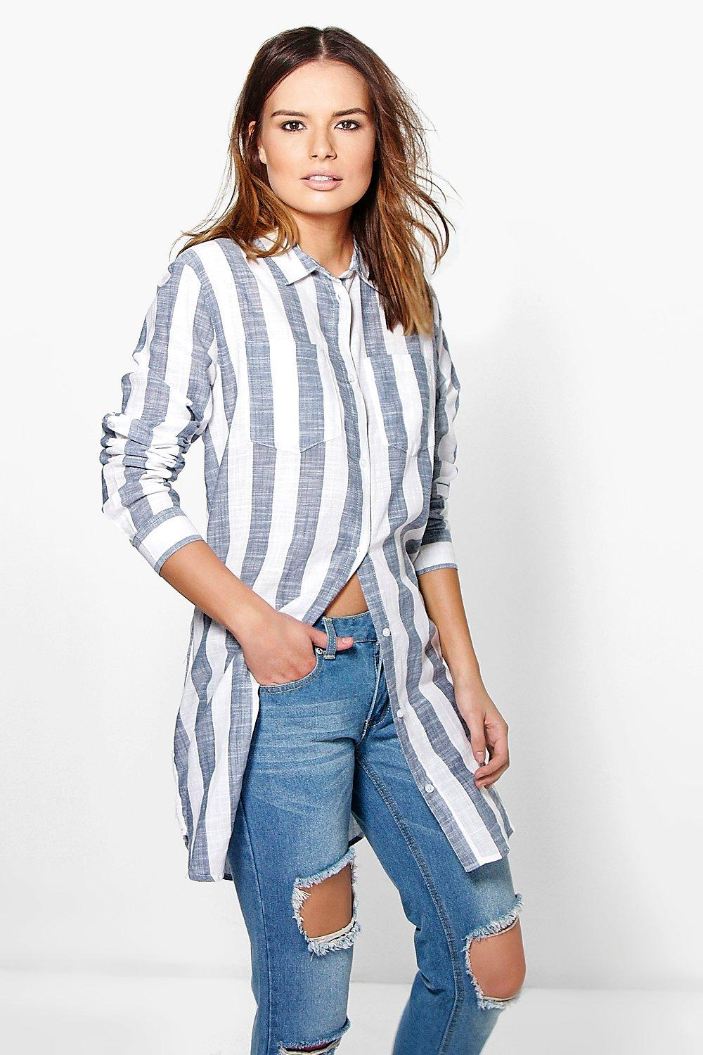 Grace Striped Oversized Cotton Shirt