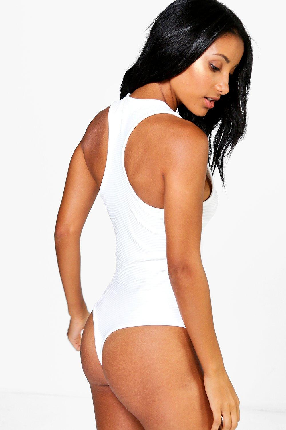 Amy Deep Rib Extreme Racer Back Body