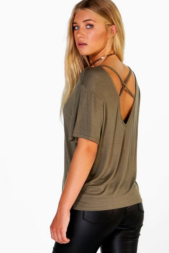 Nora Mesh Insert Top Strappy Back Top