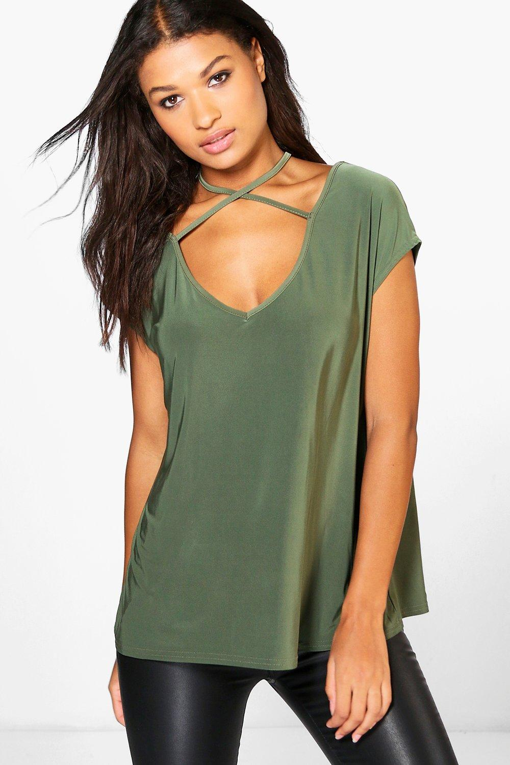 Casey Slinky Strappy Neck T-Shirt