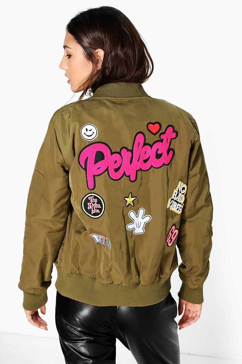 Sophia MA1 Badge Bomber Jacket