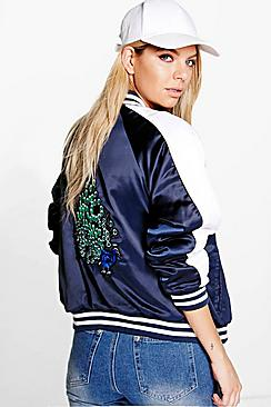 Emily Embroidered Bomber Jacket