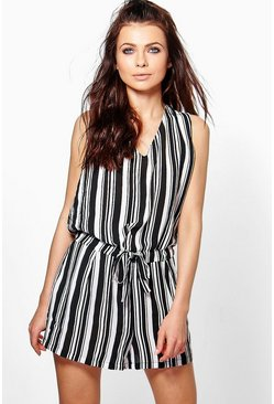 Lily Drape Wrap Front Playsuit
