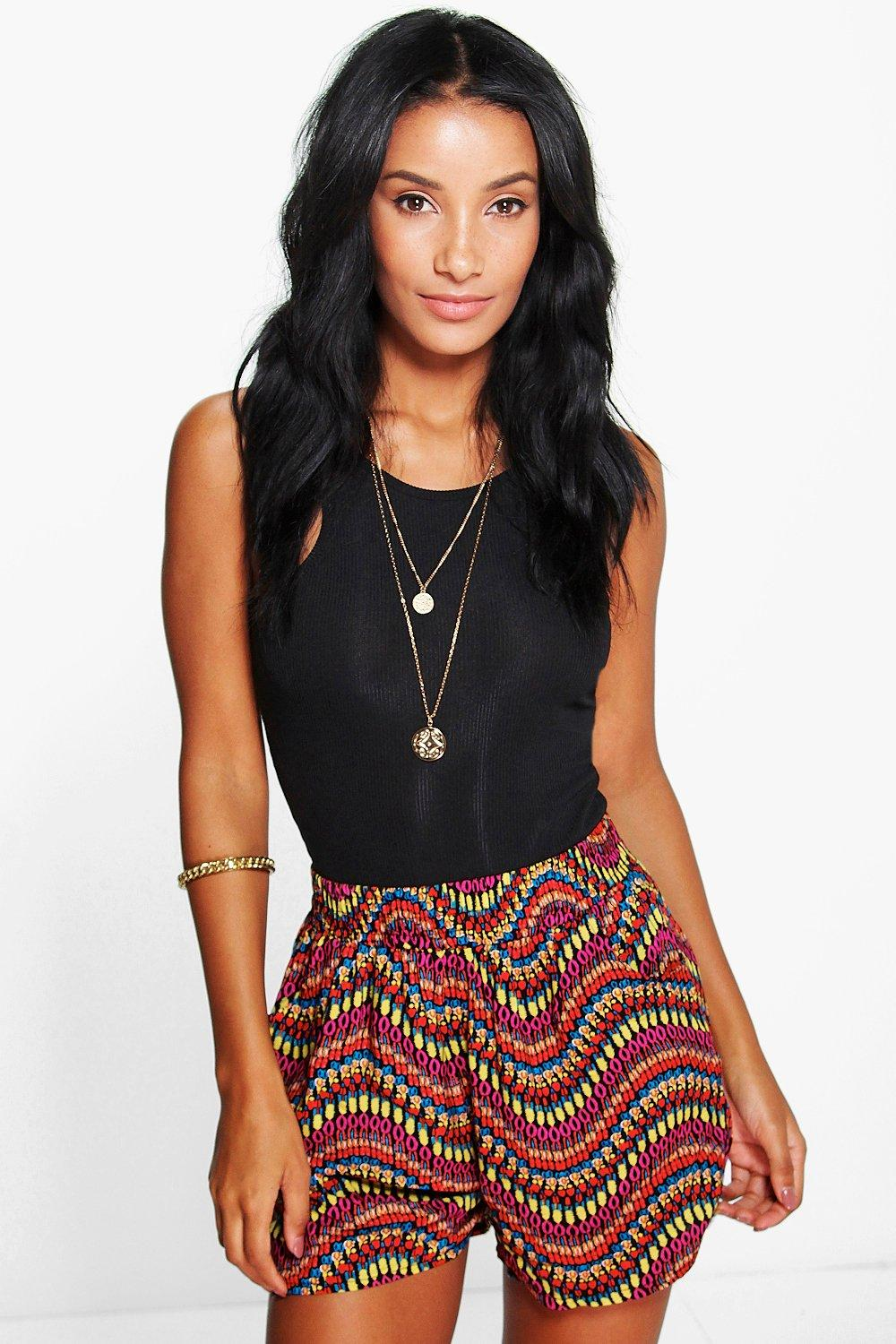 Lola Printed Ethnic Flippy Shorts