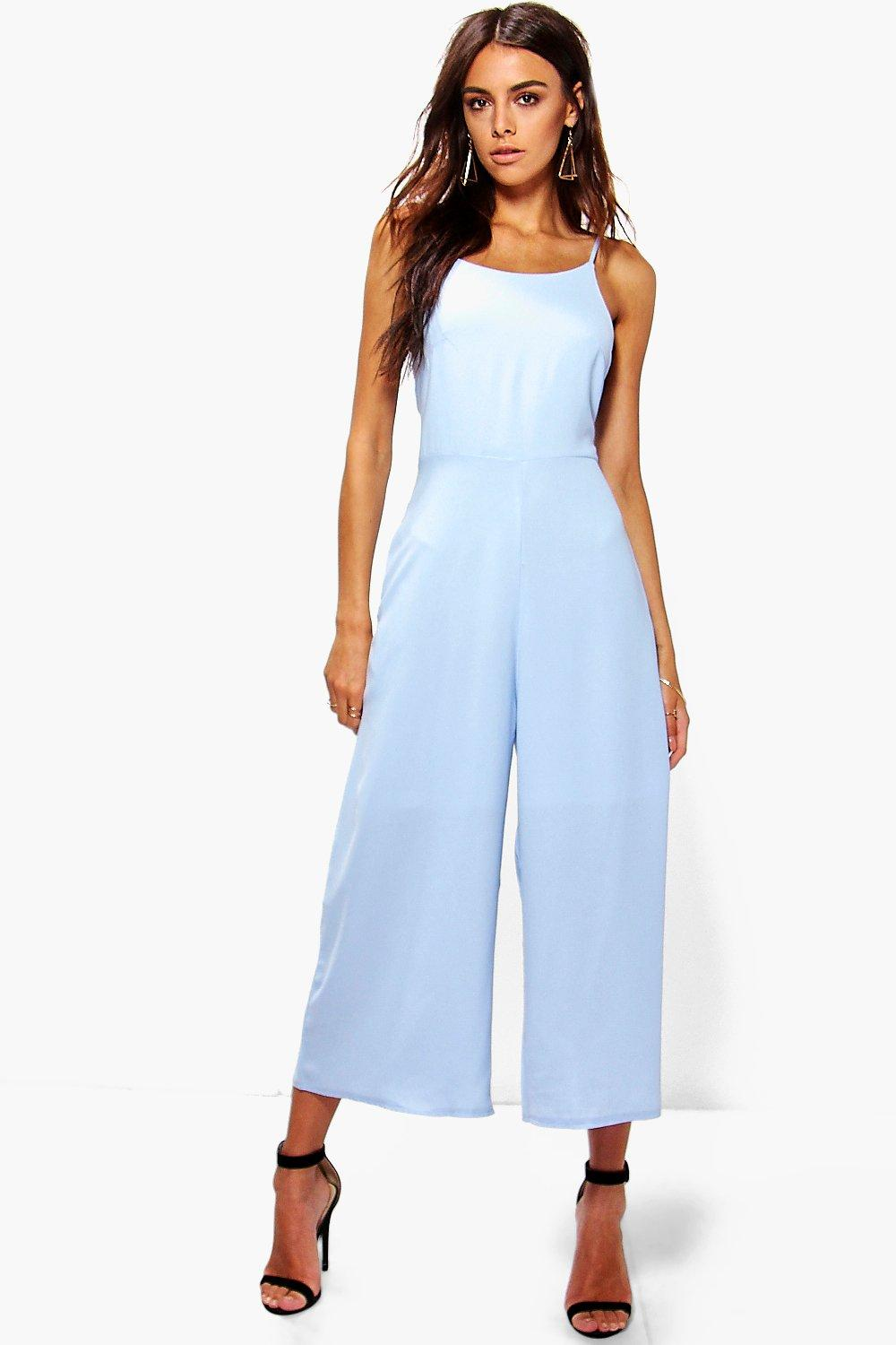 Nia Low Back Woven Culotte Jumpsuit