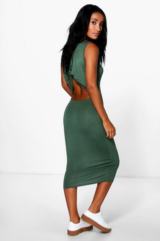 Katie Knot Back Cut Out Midi Dress