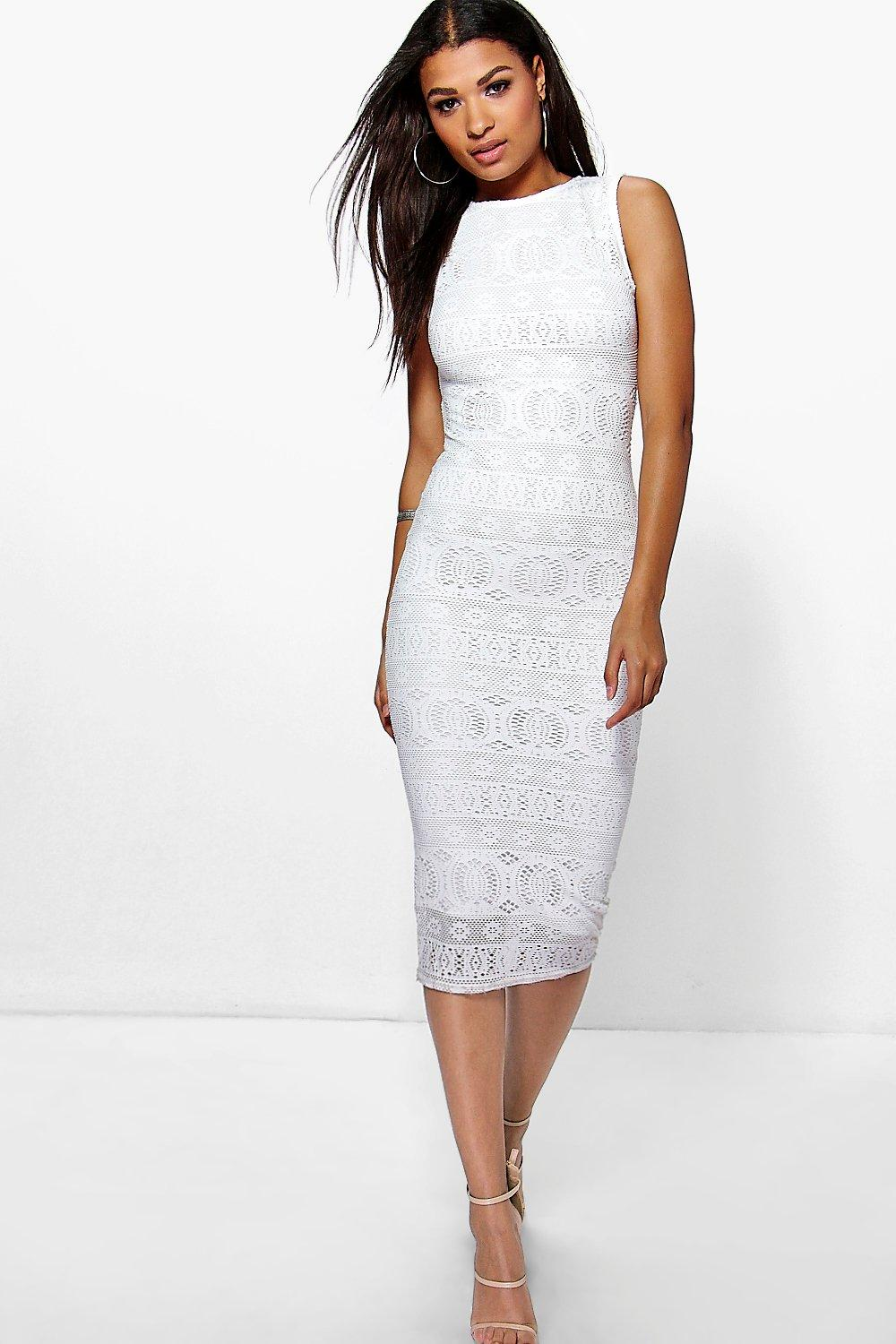 Dina Crochet Lace Mdi Bodycon Dress
