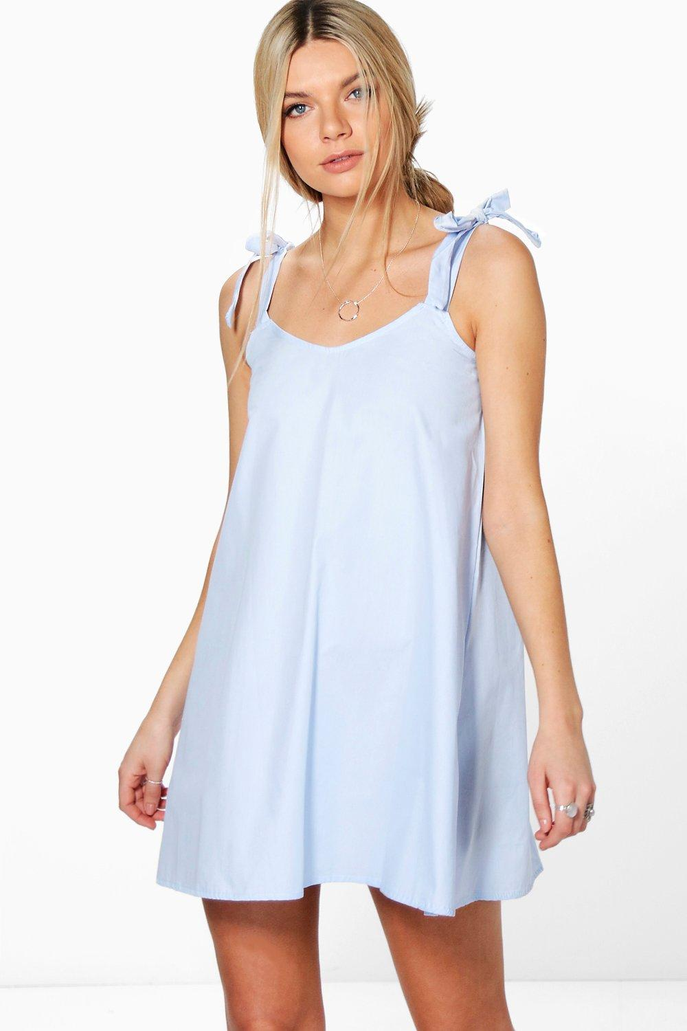 Ellie Elasticated A-Line Cotton Dress
