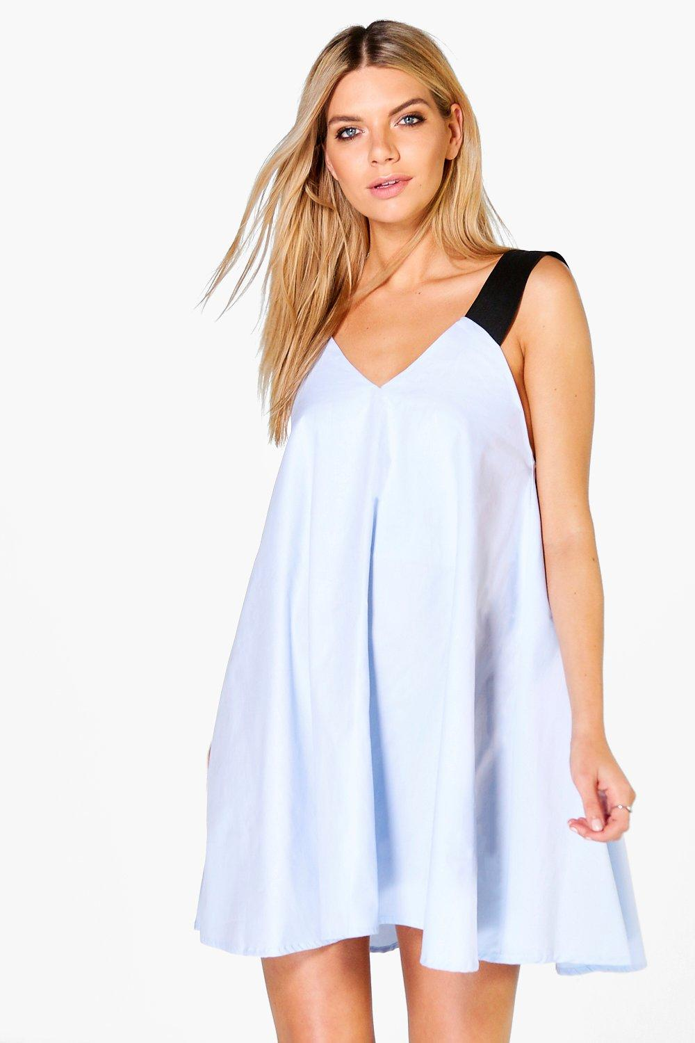 Allie Tie Shoulder A-Line Shift Dress