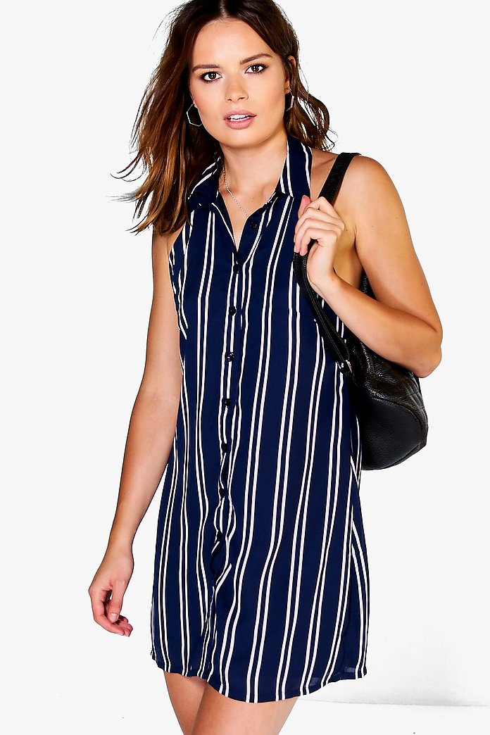 Jess Collared Halterneck Shirt Dress