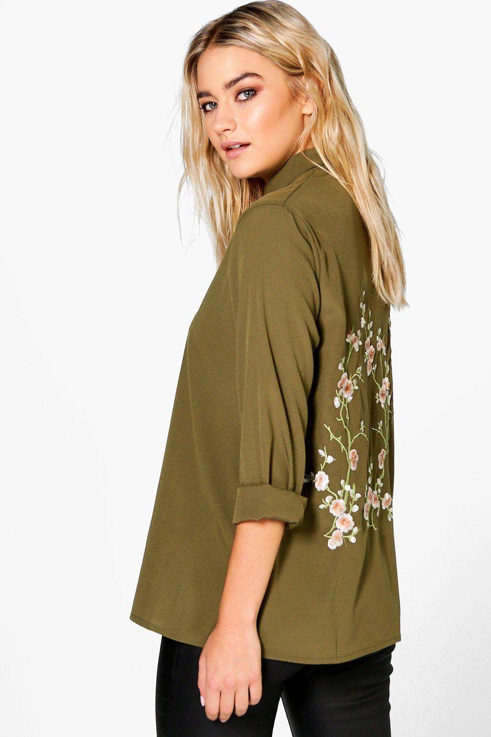 Kate Boutique Embroidered Back Shirt