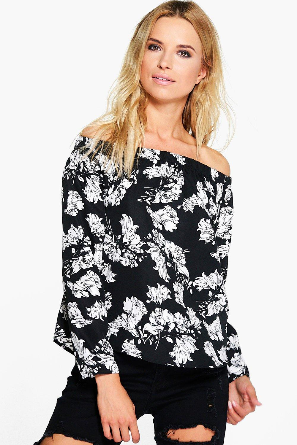 Maisy Floral Printed Off The Shoulder Top