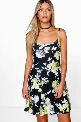 Niamh Floral Strappy Skater Dress