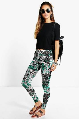Lilja Tie Dye Palm Print Leggings
