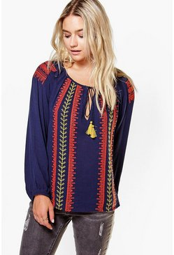 Molly Embroidered Smock Top