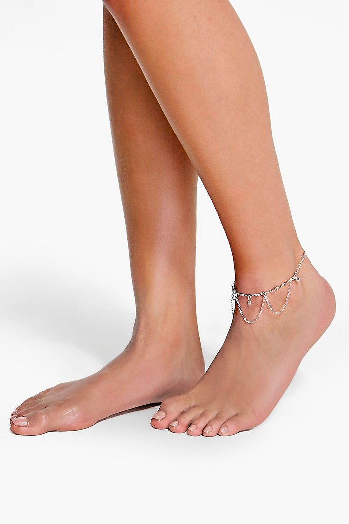 Ella Ball And Chain Layered Anklet