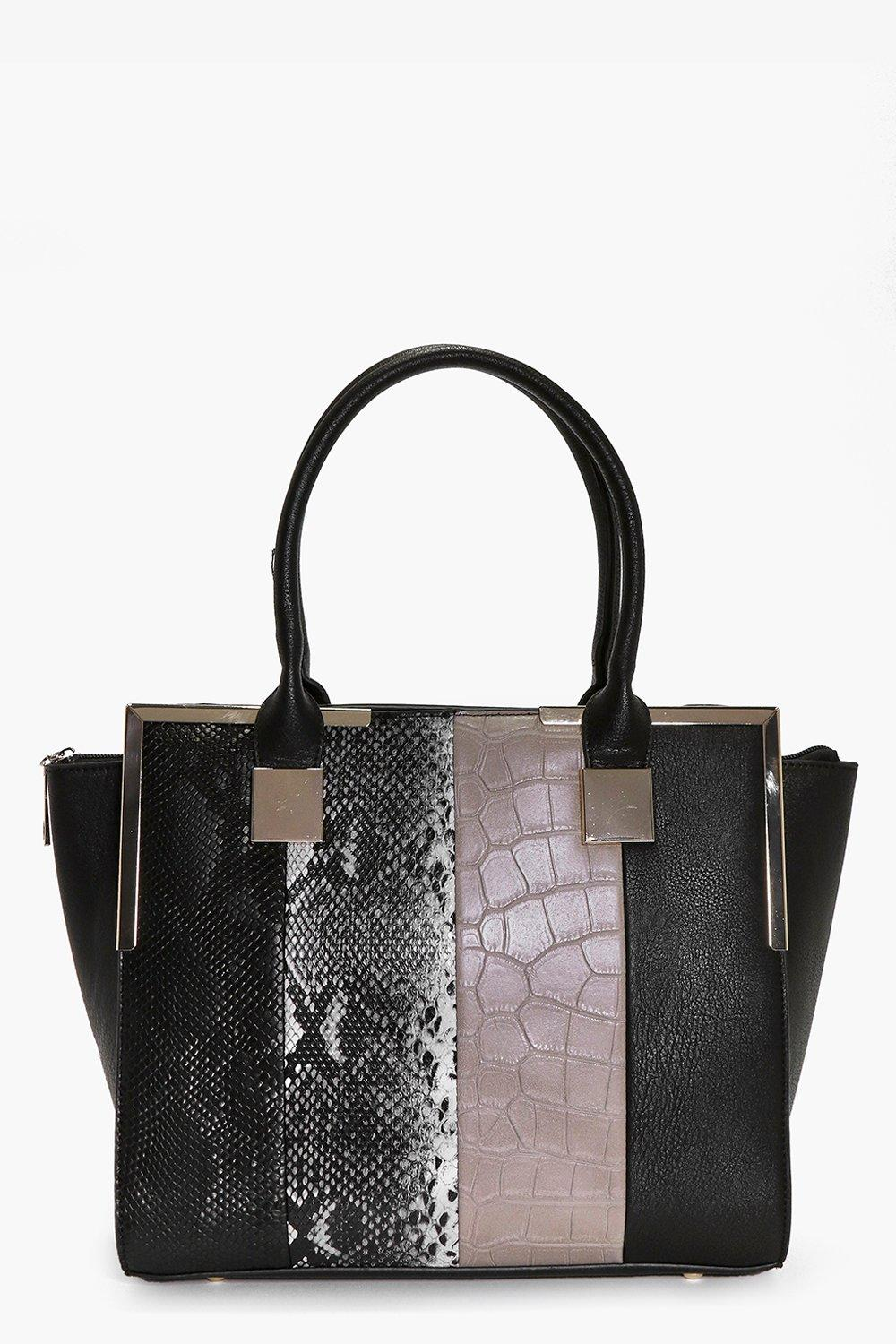 Ivy Colour Block Metal Detail Day Bag