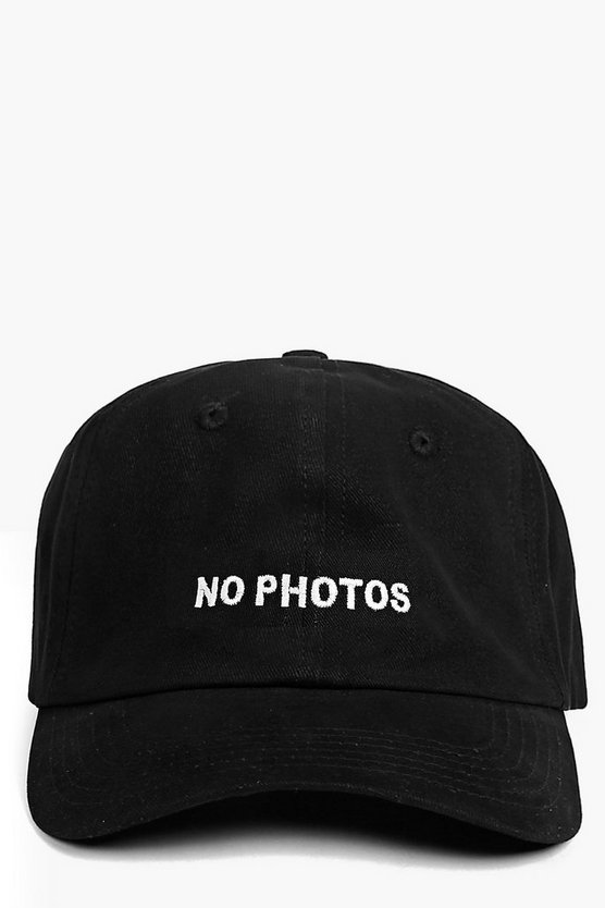 NO PHOTOS Slogan Baseball Cap