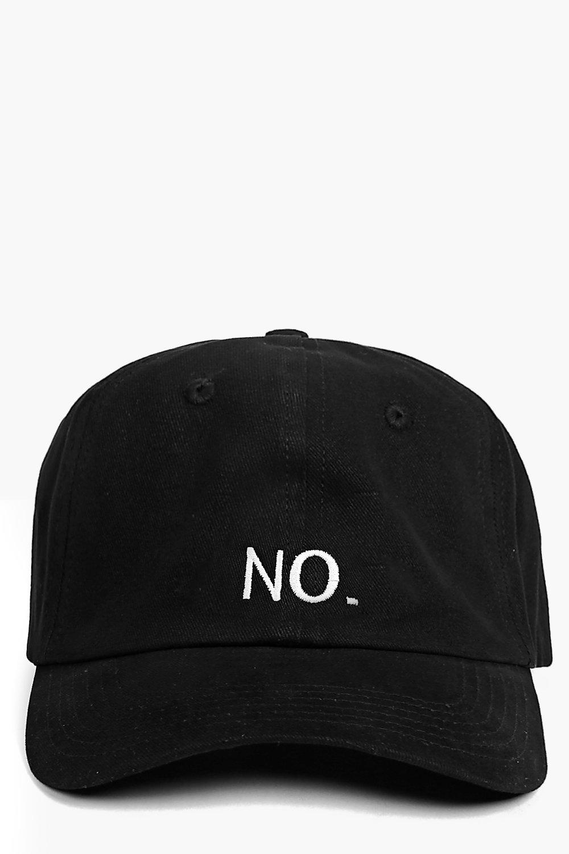 Slogan Baseball Cap - black - NO. Slogan Baseball