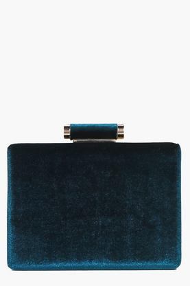 Daisy Velvet Box Clutch