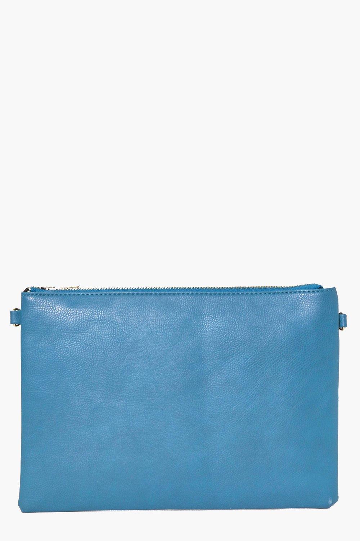 Zip Top Clutch Bag indigo