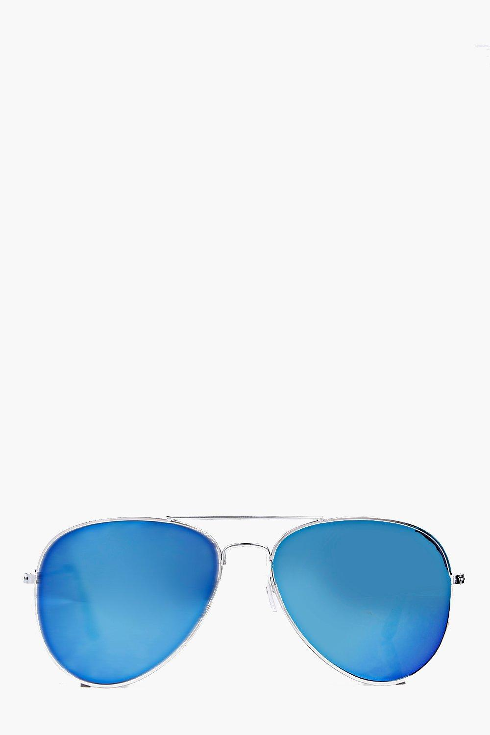 Rose Mirrored Lense Aviator Sunglasses