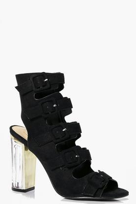 Neve Clear Heel Buckle Shoe Boot
