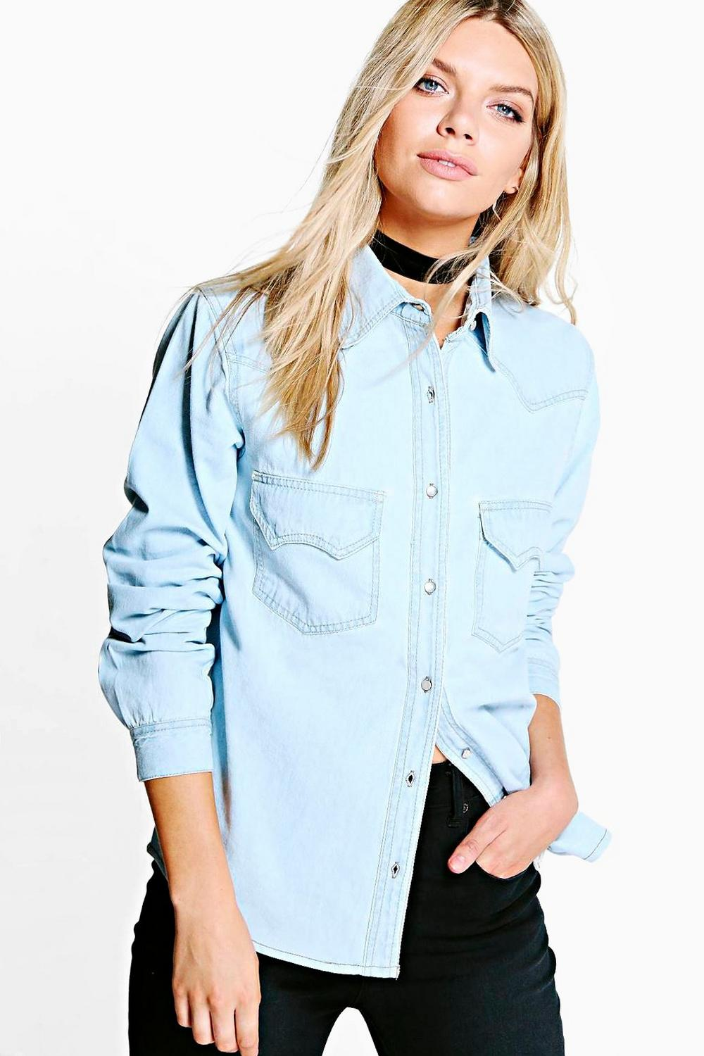 Lilly Western Style Denim Shirt