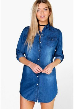 Jenny Denim Shirt Dress
