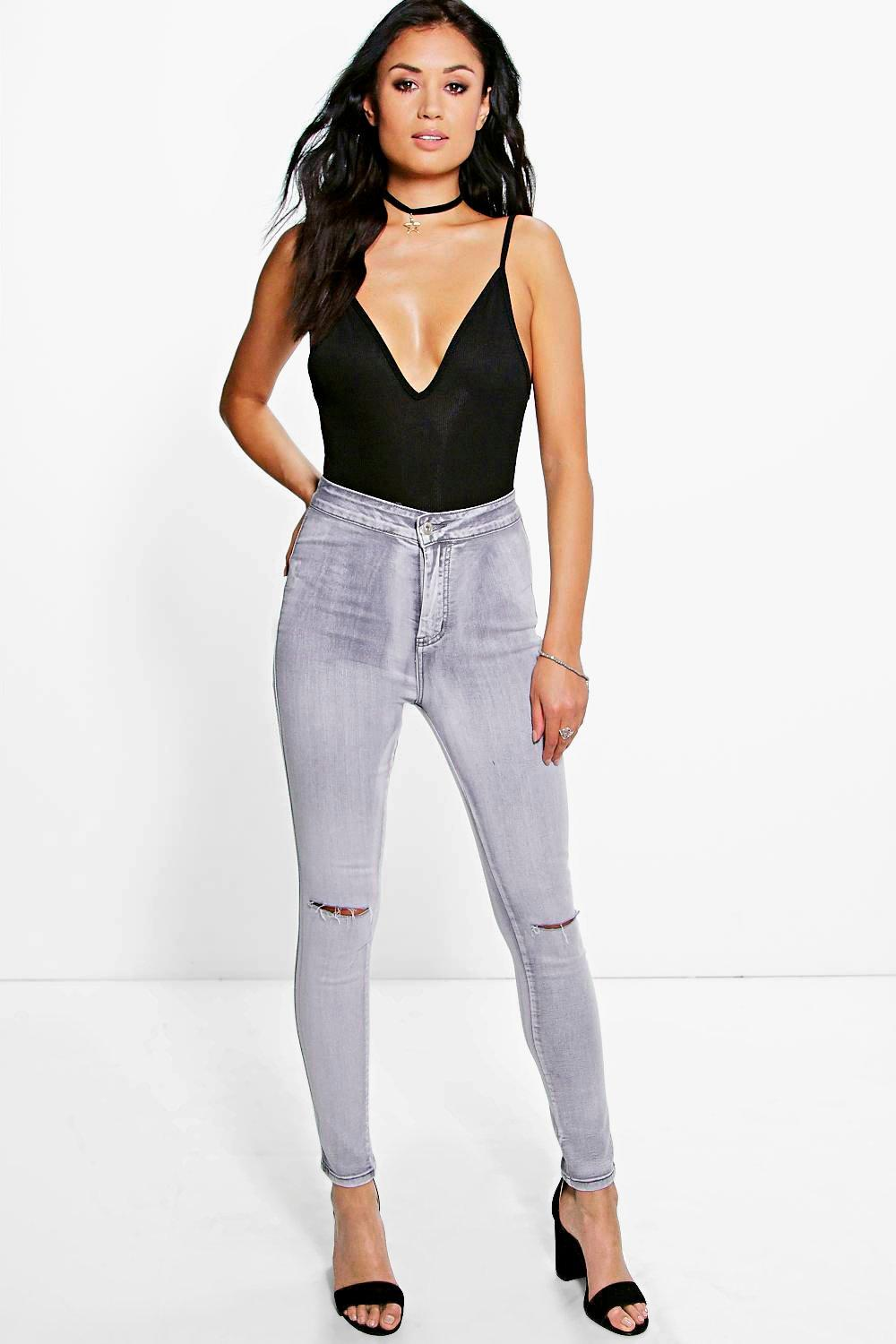 Lissa High Rise Grey Wash Jeans