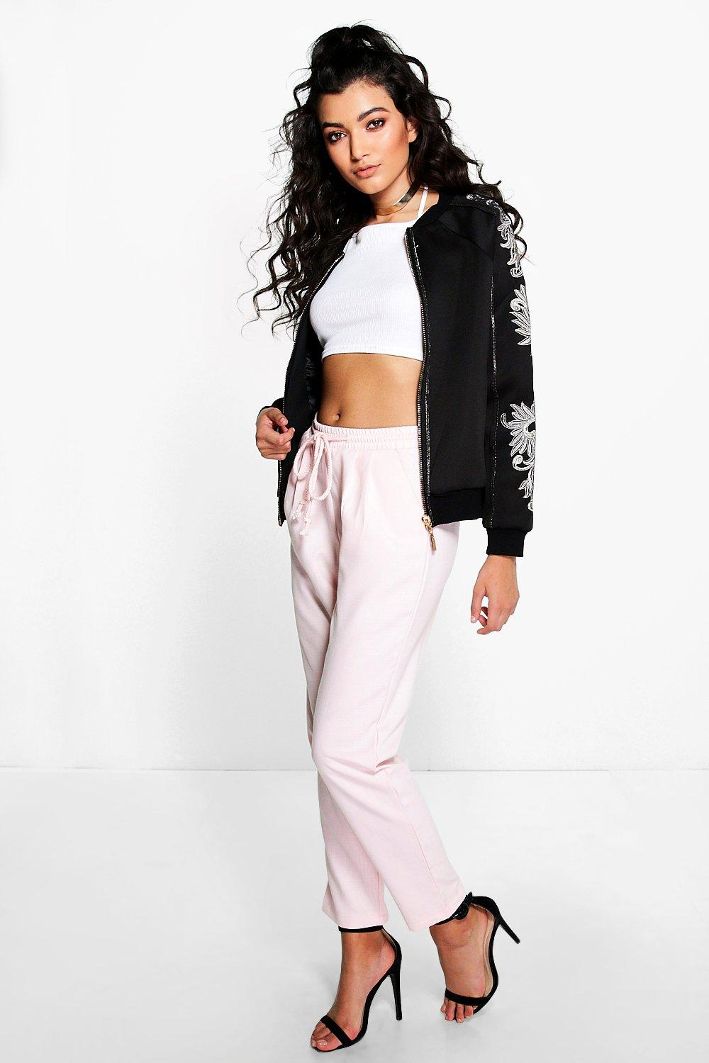 Relaxed Fit Jogger Style Trousers pink