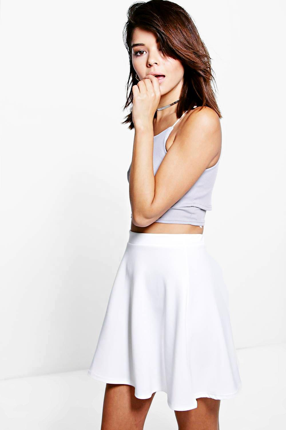 Fit and Flare Skater Skirt ivory