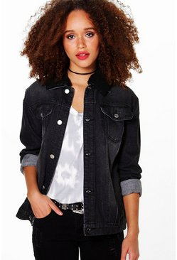 Stella Borg Collar Trucker Denim Jacket