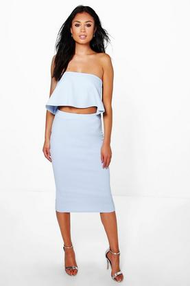 Sasha Bandeau Top & Midi Skirt Co-Ord