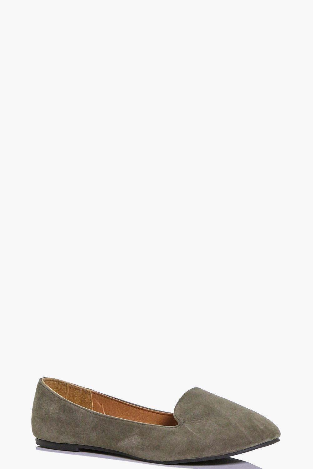 Lauren Suedette Tab Top Slipper Flats