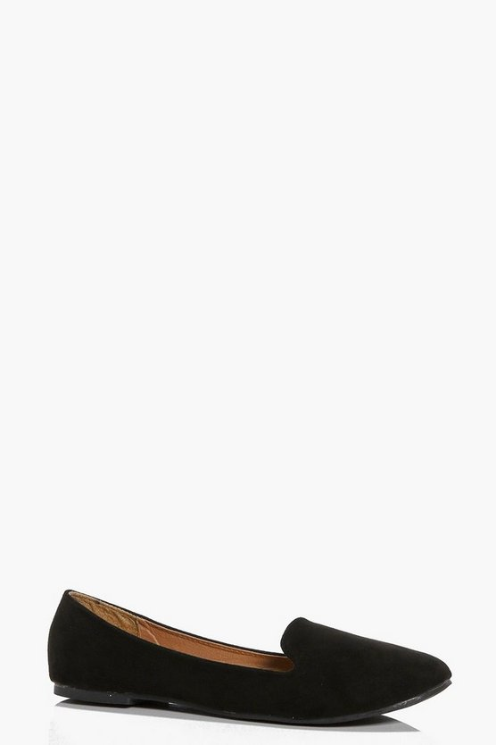 Keira Suedette Tab Top Slipper Flat