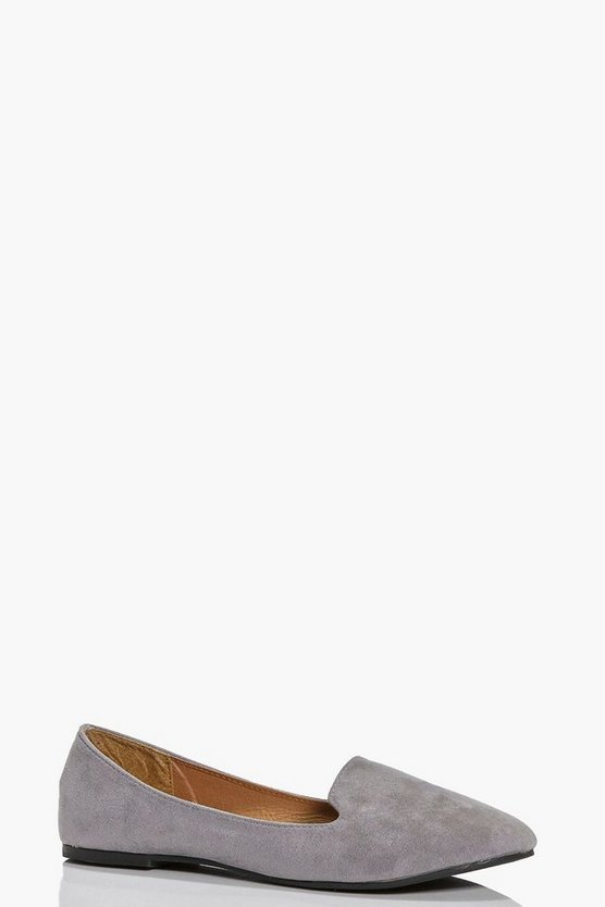 Keira Suedette Tab Top Slipper Flats