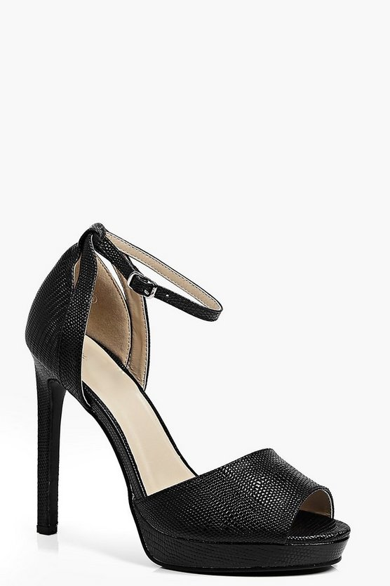 Hannah Peeptoe Strappy Two Part Heels