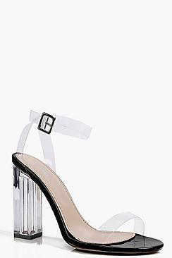 Vanessa Clear Block Heel