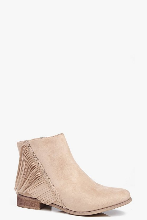 Tia Fringe Plait Shape Boot