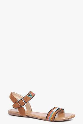 Bella Contrast Stitch Two Part Sandal
