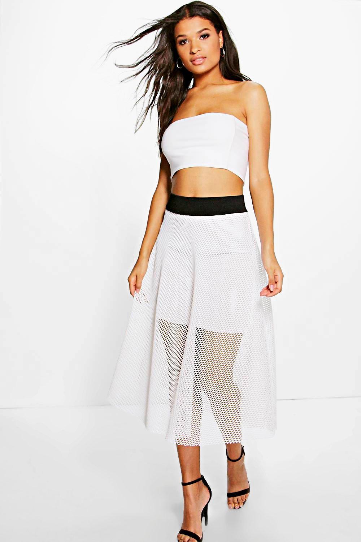Prom Style Midi Skirt ivory