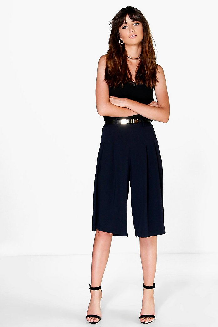 Sofia Woven Belted Culottes