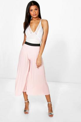 Annia Pleated Pallazzo Trousers