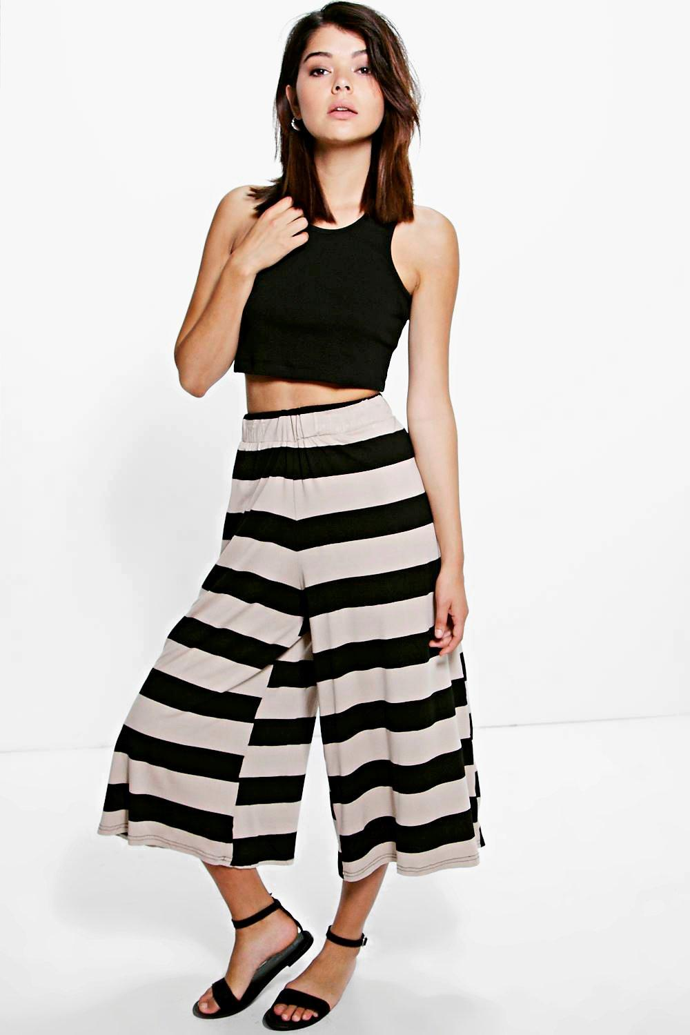 Laurena Wide Stripe Culottes