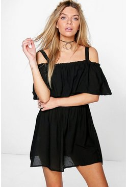 Lana Ruffle Off The Shoulder Dress